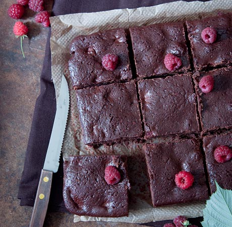 Gooey Maille Balsamic Brownies